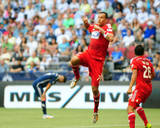Jul 27, 2014 - MLS: FC Dallas vs Vancouver Whitecaps - David Ousted, Blas Perez Photo by Anne-Marie Sorvin