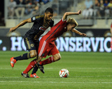 Aug 24, 2014 - MLS: San Jose Earthquakes vs Philadelphia Union - Tommy Thompson, Carlos Valdes Photo by John Geliebter