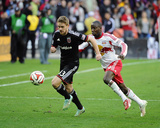 2014 MLS Playoffs: Nov 8, New York Red Bulls vs D.C. United - Bradley Wright-Phillips, Taylor Kemp Photo by Brad Mills