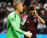 Apr 5, 2014 - MLS: Colorado Rapids vs Vancouver Whitecaps - Jose Mari, David Ousted Photo by Anne-Marie Sorvin