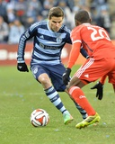 Mar 22, 2014 - MLS: San Jose Earthquakes vs Sporting KC - Sal Zizzo, Shaun Francis Photo by Peter Aiken