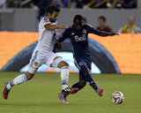 Aug 23, 2014 - MLS: Vancouver Whitecaps vs Los Angeles Galaxy - Baggio Husidic, Kekuta Manneh Photo by Kelvin Kuo