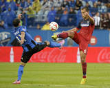 Aug 16, 2014 - MLS: Chicago Fire vs Montreal Impact - Dilaver Duka, Patrick Ianni Photo by Eric Bolte