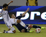 Aug 23, 2014 - MLS: Vancouver Whitecaps vs Los Angeles Galaxy - Baggio Husidic, Jordan Harvey Photo by Kelvin Kuo