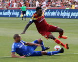 Jul 24, 2014 - MLS: Montreal Impact vs Real Salt Lake - Robbie Findley, Matteo Ferrari Photo by Chris Nicoll