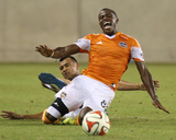 2014 MLS U.S. Open Cup: Jun 11, Laredo Hevs vs Houston Dynamo - Felix Garcis, Kofi Sarkodie Photo by Andrew Richardson