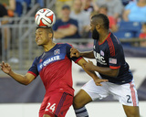 Jul 12, 2014 - MLS: Chicago Fire vs New England Revolution - Quincy Amarikwa, Andrew Farrell Photo by Bob DeChiara