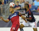 Jul 12, 2014 - MLS: Chicago Fire vs New England Revolution - Quincy Amarikwa, Andrew Farrell Photo by Bob DeChiara