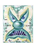 Green Scary Guy Gicléetryck av Kenny Scharf