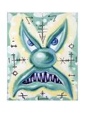 Green Scary Guy Gicleetryck av Kenny Scharf