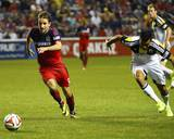 Aug 2, 2014 - MLS: Columbus Crew vs Chicago Fire - Mike Magee, Giancarlo Gonzalez Photo by Mike Dinovo