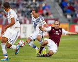 Aug 20, 2014 - MLS: Los Angeles Galaxy vs Colorado Rapids - Nick LaBrocca, Landon Donovan Photo by Isaiah J. Downing