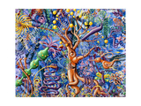 Fungle 08 Gicleetryck av Kenny Scharf