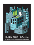 Jeremyville: Build Your Oasis Prints by  Jeremyville