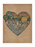 Heart Sunset Scene Posters par  Junk Food