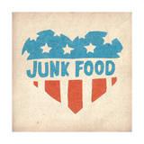 Classic American Heart Posters par  Junk Food