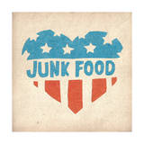 Classic American Heart Posters by  Junk Food