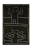 Haring - Subway Drawing Untitled - 20 Giclee Print by Keith Haring