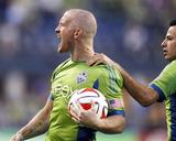 Aug 20, 2014 - MLS: San Jose Earthquakes vs Seattle Sounders - Marco Pappa, Chad Barrett Photo by Joe Nicholson