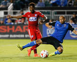 Aug 16, 2014 - MLS: FC Dallas vs San Jose Earthquakes - Fabian Castillo, Jason Hernandez Photo by Kelley L Cox
