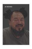 Quotes Portrait Clown Hair Affiches par Ai Weiwei
