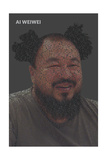 Quotes Portrait Clown Hair Prints by Ai Weiwei