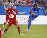 Aug 9, 2014 - MLS: Colorado Rapids vs FC Dallas - Deshorn Brown, Matt Hedges Photo by Tim Heitman