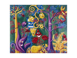 Juicy Jungle 84 Gicleetryck av Kenny Scharf