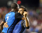 Jul 23, 2014 - MLS: Chicago Fire vs San Jose Earthquakes - Cordell Cato, Chris Wondolowski Photo by Kelley L Cox