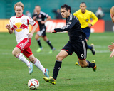 2014 MLS Playoffs: Nov 8, New York Red Bulls vs D.C. United - Dax McCarty, Fabian Espindola Photo by Geoff Burke