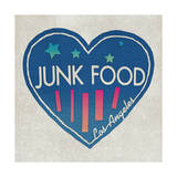 Los Angeles Heart Poster par  Junk Food