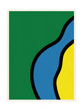 Abstract - Green Blue Yellow Art by  Junk Food