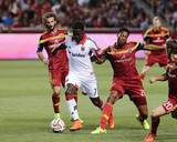 Aug 9, 2014 - MLS: D.C. United vs Real Salt Lake - Kyle Beckerman, Eddie Johnson, Chris Schuler Photo by Chris Nicoll