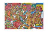 Festival, 2014 Giclée-tryk af Muktair Oladoja