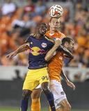 Jul 4, 2014 - MLS: New York Red Bulls vs Houston Dynamo - Bradley Wright-Phillips, Eric Brunner Photo by Troy Taormina