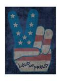 Peace Symbol - Loud and Proud Kunst af  Junk Food