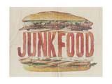 JUNKFOOD Meat Sandwich Prints by  Junk Food