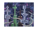 City Of The Past 03 Giclee Print by Kenny Scharf