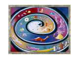 History Of The World 87 Gicleetryck av Kenny Scharf