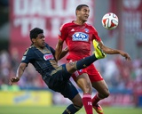 Jul 4, 2014 - MLS: Philadelphia Union vs FC Dallas - Tesho Akindele, Raymon Gaddis Photo by Jerome Miron
