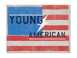 Young American - Lightning Bolt American Flag Art by  Junk Food