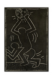 Haring - Subway Drawing Untitled - 12 Giclee Print by Keith Haring