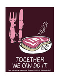 Jeremyville: Together We Can Do It Prints by  Jeremyville