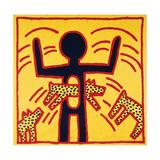 Keith Haring - Haring - Untitled October 1982 Private Collection Digitálně vytištěná reprodukce