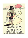 Jeremyville: 10000 Miles Starts With One Footstep Posters by  Jeremyville