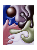 OBZ Reproduction procédé giclée par Kenny Scharf