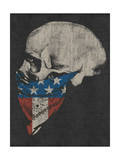 Skull and American Flag Bandana Affiches par  Junk Food