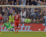 Aug 16, 2014 - MLS: Toronto FC vs Sporting KC - Joe Bendik, Dom Dwyer Photo by Denny Medley
