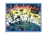 Image Nation 90 Gicleetryck av Kenny Scharf