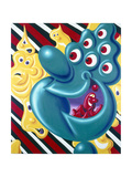 Butterstripsixeyeinfinitum Giclee Print by Kenny Scharf